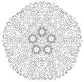 Mandala με το σχέδιο λουλουδιών Στοκ Φωτογραφίες