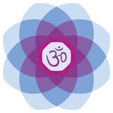 Mandala με ` Aum ` Στοκ εικόνες με δικαίωμα ελεύθερης χρήσης