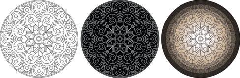 Mandala λουλουδιών γεωμετρίας για το χρωματισμό του βιβλίου κύκλος προτύπων Στοκ φωτογραφία με δικαίωμα ελεύθερης χρήσης