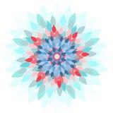 Mandala-λουλούδι Στοκ Εικόνες