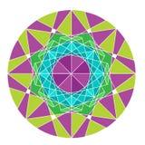 Mandala που απομονώνεται στο άσπρο υπόβαθρο Απεικόνιση αποθεμάτων