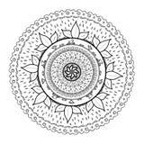Mandala που σύρεται για να χρωματιστεί Στοκ εικόνα με δικαίωμα ελεύθερης χρήσης