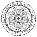 Mandala που σύρεται για να χρωματιστεί Στοκ Φωτογραφίες