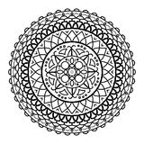 Mandala που σύρεται για να χρωματιστεί Στοκ εικόνες με δικαίωμα ελεύθερης χρήσης