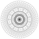 Mandala που σύρεται για να χρωματιστεί Στοκ Εικόνα