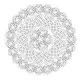 Mandala στο εσωτερικό ύφος Σύνολο δαχτυλιδιών των κελτικών πλεξουδών Στοκ Εικόνα