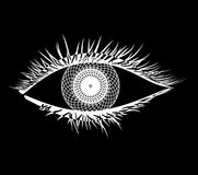 Mandala στο μάτι Στοκ εικόνα με δικαίωμα ελεύθερης χρήσης