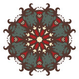 Mandala στο υπόβαθρο Στοκ εικόνες με δικαίωμα ελεύθερης χρήσης