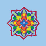 Mandala, στρογγυλή διακόσμηση Στοκ Εικόνα