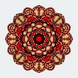 mandala Στρογγυλό σχέδιο διακοσμήσεων διακοσμητικός τρύγος στ&o ελεύθερη απεικόνιση δικαιώματος