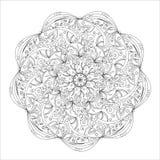 Mandala, στρογγυλό σχέδιο διακοσμήσεων Στοκ Φωτογραφία