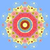 Mandala σχεδίου λουλουδιών διανυσματική απεικόνιση