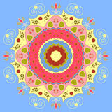 Mandala σχεδίου λουλουδιών Στοκ εικόνα με δικαίωμα ελεύθερης χρήσης