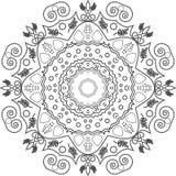 Mandala σχεδίου λουλουδιών Στοκ Εικόνες