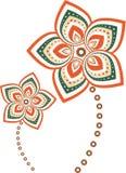 Mandala σχεδίων λουλουδιών Στοκ Φωτογραφίες