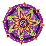 Mandala σχεδίων λουλουδιών Στοκ Φωτογραφία