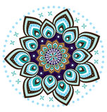Mandala σχεδίων λουλουδιών Στοκ Εικόνες