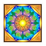 Mandala της γης διανυσματική απεικόνιση