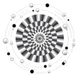 Mandala της κίνησης Στοκ Εικόνες