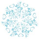 Mandala των καρδιών και των πεταλούδων Στοκ εικόνες με δικαίωμα ελεύθερης χρήσης