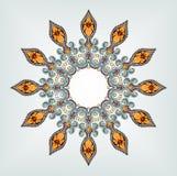 Mandala, φυλετική εθνική διακόσμηση, διανυσματική τέχνη Στοκ Φωτογραφία