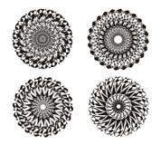 mandala όμορφο διάνυσμα απεικόνισης σχεδίου ανασκόπησης αφηρημένη διακόσμηση μαύρο λευκό Πνευματική πρακτική Στοκ Φωτογραφίες