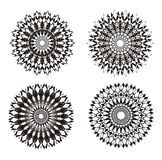 mandala όμορφο διάνυσμα απεικόνισης σχεδίου ανασκόπησης αφηρημένη διακόσμηση μαύρο λευκό Πνευματική πρακτική Στοκ Εικόνες