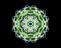 Mandala 'Malachiet '- fractal het patroon, bevordert de groei en verhoging royalty-vrije illustratie