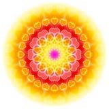 Mandala 01 del amor - florecimiento del corazón Fotos de archivo libres de regalías