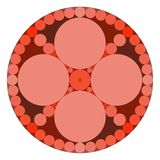 Mandala. Conceptual scheme, many colored circles, mandala royalty free illustration