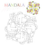 Mandala. Coloring book sketch for children and adults that can lead to relaxation and meditation royalty free illustration