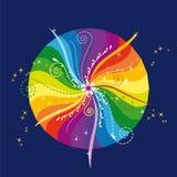 Mandala 2 do arco-íris Fotos de Stock