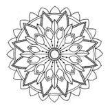 Mandala aan kleur Royalty-vrije Stock Afbeeldingen