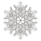 Mandala. Abstract decorative background. Islam, Arabic, oriental, indian, ottoman, yoga motifs. Vector illustration for coloring pages Stock Photography