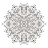 Mandala. Abstract decorative background. Islam, Arabic, oriental, indian, ottoman, yoga motifs. Vector illustration for coloring pages Stock Photo