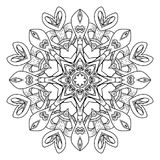 Mandala. Abstract decorative background. Islam, Arabic, oriental, indian, ottoman, yoga motifs. Vector illustration for coloring pages Royalty Free Stock Photography