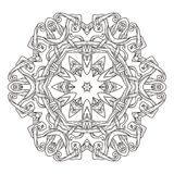 Mandala. Abstract decorative background. Islam, Arabic, oriental, indian, ottoman, yoga motifs. Vector illustration for coloring pages Royalty Free Stock Photo
