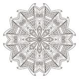 Mandala. Abstract decorative background. Islam, Arabic, oriental, indian, ottoman, yoga motifs. Vector illustration for coloring pages Royalty Free Stock Image