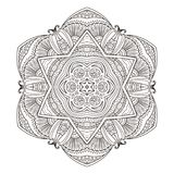 Mandala. Abstract decorative background. Islam, Arabic, oriental, indian, ottoman, yoga motifs. Vector illustration for coloring pages Stock Images
