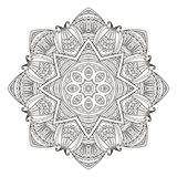 Mandala. Abstract decorative background. Islam, Arabic, oriental, indian, ottoman, yoga motifs. Vector illustration for coloring pages Stock Photos