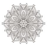 Mandala. Abstract decorative background. Islam, Arabic, oriental, indian, ottoman, yoga motifs. Vector illustration for coloring pages Royalty Free Stock Images