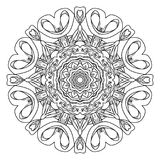 Mandala. Abstract decorative background. Islam, Arabic, oriental, indian, ottoman, yoga motifs. Vector illustration for coloring pages Stock Image