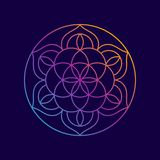 Mandala Abstract Flower Yoga Background royalty illustrazione gratis