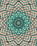 Mandala with abstract geometric ornament seamless pattern Stock Images