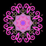 Mandala Abstract Purple Illustration de Vecteur