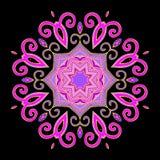 Mandala Abstract Purple Royalty-vrije Stock Afbeeldingen