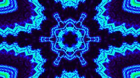 Mandala abstract video that shines, bright light that arranges subtle colorful movements with waves of flower shape, black backg
