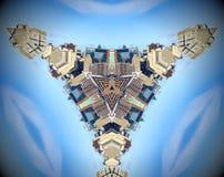Mandala abstracta de la ciudad del triángulo stock de ilustración