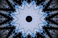 Mandala abstracta de la forma de la polea imagen de archivo