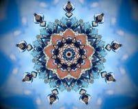 Mandala abstracta del espejo de la ciudad stock de ilustración